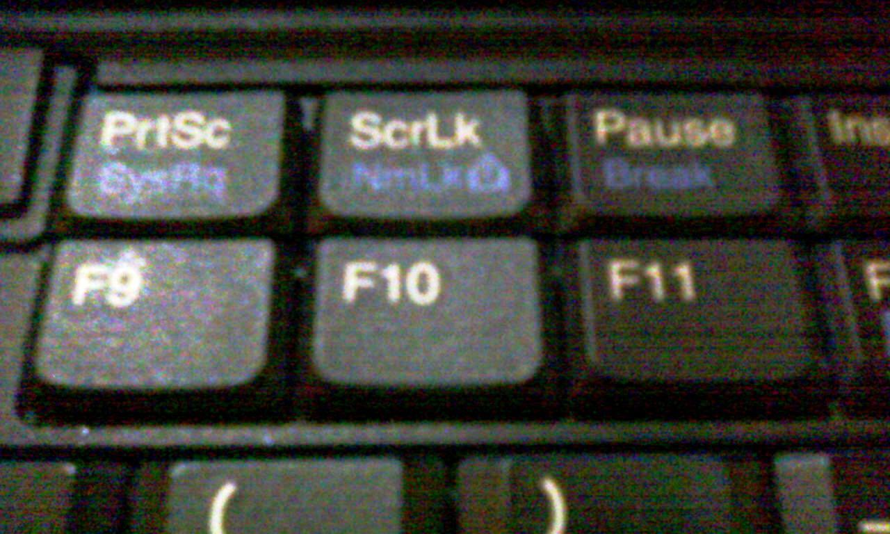 Функциональные клавиши F9-F11