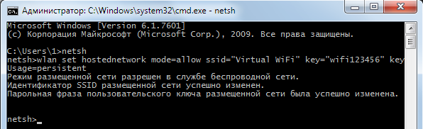 Использование netst в Windows 7