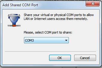 Расшаренный com-порт windows