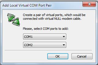 Создание виртуального com-порта в windows7