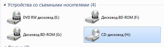 Виртуальный привод в Windows 7