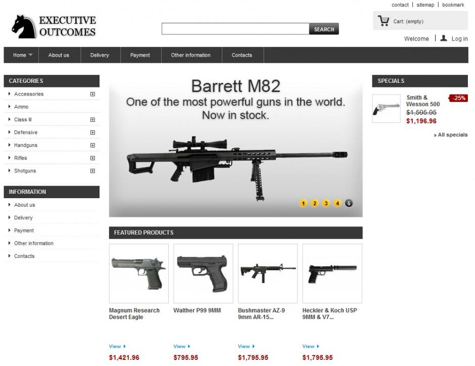 Торговля оружием в Dark Web